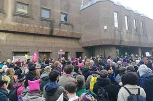 Stansted 15: Pictures show hundreds of protesters gathered outside Chelmsford Crown Court