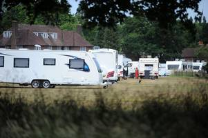 metal gates to be installed at gosden common following concerns over traveller incursion