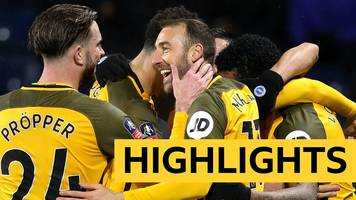 fa cup: west bromwich albion 1-3 brighton and hove albion highlights