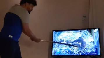 'it makes people happy!' - the fan that smashes his tv every time his team loses