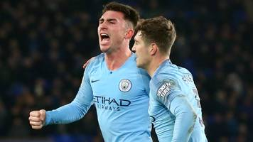 laporte & jesus goals put man city top of league with victory at everton