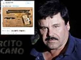 el chapo's lawyers tweet photo of gun-shaped bottle of tequila in anticipation of end of the trial