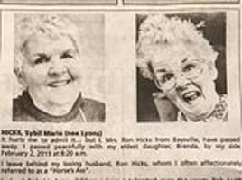 grandma sybil marie hicks writes funny obituary about 'smoking hot body' thanks to cremation