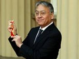 japanese british author kazuo ishiguro is knighted by prince charles at buckingham palace