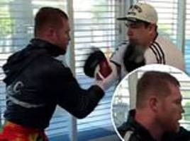 canelo alvarez shows insane speed in training video ahead of unification fight with daniel jacobs