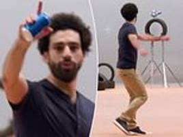 mo salah pulls off impressive trick shots... but some fans insist clip is fake