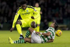hibs new boy darnell johnson posts emilio izaguirre horror tackle picture on social media