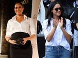 meghan's little white shirt!