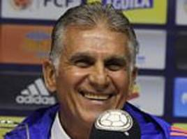 colombia boss queiroz ready to build on legacy of peckerman and build team around james rodriguez