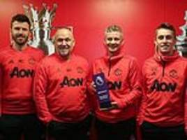 ole gunnar solskjaer named premier league manager of the month