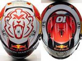 red bull reveal verstappen's and gasly's new helmets for new season