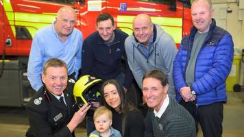 warrington fire: woman meets men who saved her as a baby