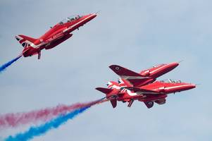 red arrows: where and when you can see the raf team in gloucestershire before they fly to the us