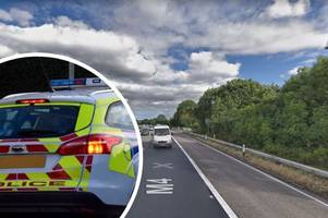 pregnant woman ended up 'facing the wrong way' on the m4 after crash