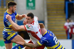 hull kr captain joel tomkins in hospital following blake austin challenge in warrington wolves loss