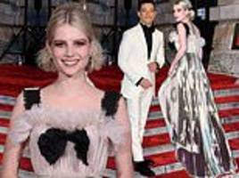 BAFTAs 2019 red carpet: Lucy Boynton stuns in two-tone gown