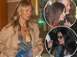 gwyneth paltrow joins demi moore and sandra bullock for jennifer aniston's 50th birthday bash