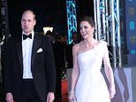 Kate Middleton stuns on BAFTAs red carpet in white gown