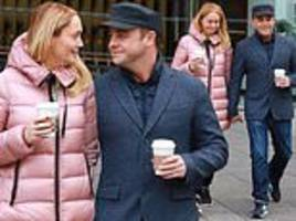 ant mcpartlin holds hands with anne-marie corbett before manchester britain's got talent auditions