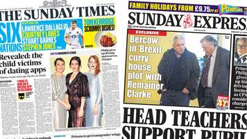 the papers: 'child victims of tinder', and more brexit plots