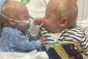 gloucestershire parents urge us drug company to release medicine that could save their twin boys