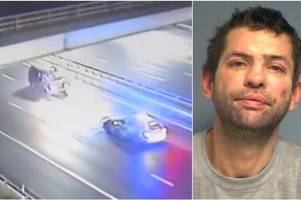the horrifying video of a drunk driver going the wrong way down the motorway