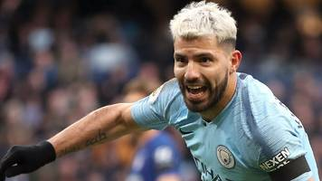 Aguero equals Premier League hat-trick record as Man City rout Chelsea to go top