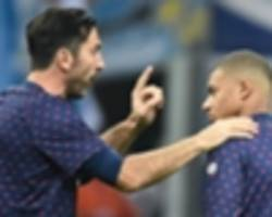 buffon: normal for mbappe to think of me as 'grandpa'