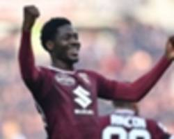 ola aina opens serie a goal account in torino win over udinese