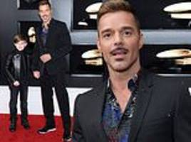 Grammys 2019: Ricky Martin walks the red carpet with sonMatteo