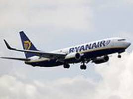 ryanair passenger suffered a broken ankle when aircraft lurched downwards