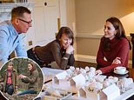 kensington palace shares new photos of kate designing her garden for chelsea flower show