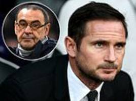 Frank Lampard bookies' favourite to become next permanent Chelsea boss as pressure grows on Sarri