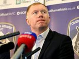 Paul Scholes happy to be Oldham manager as he promises entertainment
