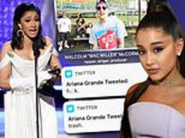 ariana grande tweets (then deletes) 'f*ck' and 'trash' after late ex mac miller loses grammy