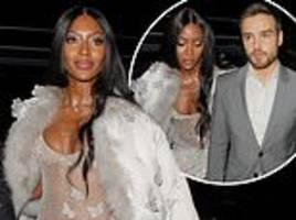 baftas 2019: naomi campbell and liam payne attend vogue after-party