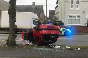 police chase driver who left baby inside crashed car admits dangerous driving