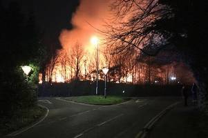 Police issue Tamworth hospital fire statement as crews tackle blaze