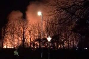 woman 'screaming in the road' as tamworth hospital fire rages at sir robert peel