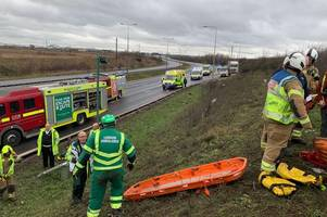 officers investigating serious a13 collision that left man fighting for his life appealing for witnesses