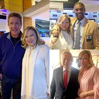 thompson education center attends the super bowl liii and jim brown's legends of football golf tournament