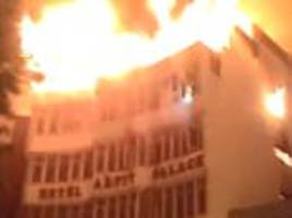 at least 17 people including a child are killed in delhi hotel fire