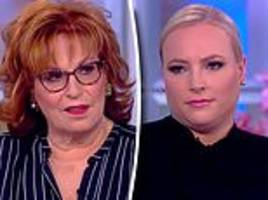 joy behar accuses meghan mccain of throwing 'hissy fit' during argument about trump on the view