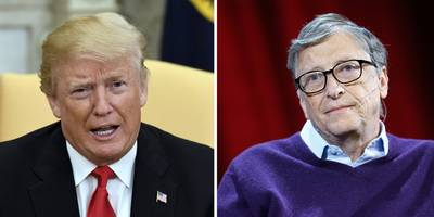 bill and melinda gates say that the best way to put 'america first' is to invest in foreign aid — a not-so-subtle nudge at trump