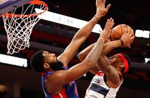 Drummond, Griffin combine for 63 points as Pistons top Wizards 121-112