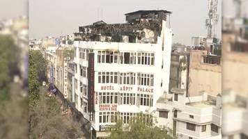 At Least 17 Dead After Fire Breaks Out In New Delhi Hotel