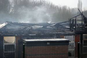 forensic investigations begin after suspected arson blaze at george bryan centre