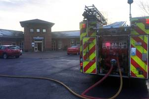 suspected arsonist detained by police after tamworth hospital fire