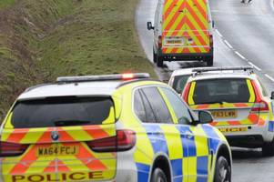 Three casualties trapped in people carrier after crash