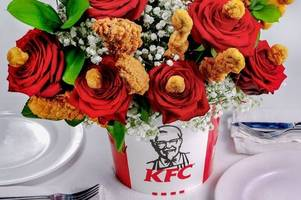 kfc has unveiled chicken bouquets in celebration of st valentine's day